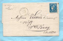 N°46 B Sur L.S.C. De VAISON Pour St PERAY Le 20/4/71. - Postmark Collection (Covers)