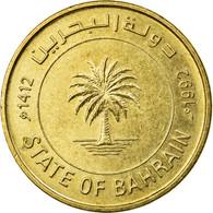 Monnaie, Bahrain, 10 Fils, 1992, TTB, Laiton, KM:17 - Bahreïn
