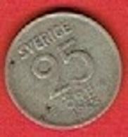 SWEDEN #  25 ØRE  FROM 1953 - Suède