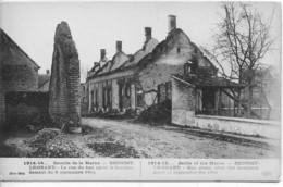 Dpt 51 Broussy Le Grand La Rue Du Bas Apres Le Bombardement Guerre 14-18 - Altri Comuni