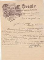 Italie Facture Lettre Illustrée 16/4/1924 CARAVELLI Oreste Vini Astigiani , Chiantui, Marsala ASTI - Vins - Italie