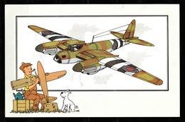 """TINTIN / Chromo """"Zien En Weten"""" Par Hergé : Aviation - Guerre 1939-1945  N° 36 - Edition CASTERMAN - Chromos"""