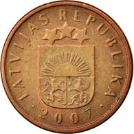Monnaie, Latvia, 2 Santimi, 2007, TTB, Copper Clad Steel, KM:21 - Lettonie