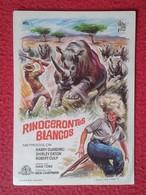 SPAIN FOLLETO DE CINE PROGRAMA MANO PROGRAM FILM RINOCERONTE RHINO RHINOCEROS RHINOS RHINOCEROSES RINOCERONTES BLANCOS - Otros