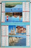 Almanach Calendrier Du Facteur La Poste Ptt Année 2018 ISERE  Theme Vue Du Departement Du Nord - Calendriers