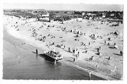 Cpsm. 14 FRANCEVILLE (ar. Caen) Vue Aérienne De La Plage (Bateau De Promenade Amphibie) 1959  N° 2 - Autres Communes