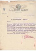 Italie Facture Lettre Illustrée 22/4/1931 Egidio Galbani Formaggio Del Bel Paese MELZO Pour Brunat Montluçon - Italie