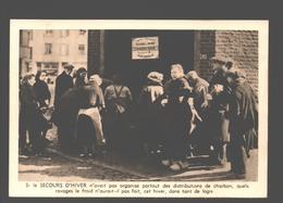 Secours D'Hiver / Winterhulp - Une Distribution De Charbon - Guerra 1939-45