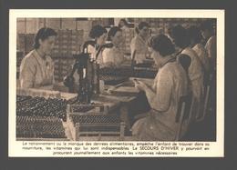 Secours D'Hiver / Winterhulp - L'étiquetage Des Flacons De Vitamines - Guerra 1939-45