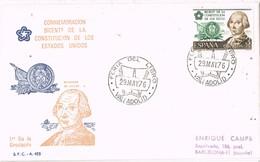 31291. Carta Exposicion VALLADOLID 1976. Feria Del Libro. Constitucion USA - 1931-Hoy: 2ª República - ... Juan Carlos I