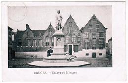 Brugge, Bruges, Statue De Memling (pk55101) - Brugge