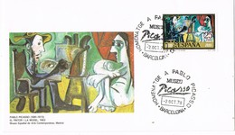 31292. Carta Exposicion BARCELONA 1978. Museo PICASSO, Pintor. Pintor Y Modelo - 1931-Hoy: 2ª República - ... Juan Carlos I