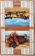 Almanach Calendrier Du Facteur La Poste Ptt Année 2009 ISERE  Theme Moissons Jadis - Calendriers