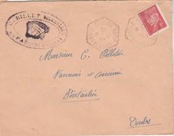Enveloppe Commerciale 1948 / BILLET Bourrrelier / 39  Le Pasquier / CAD Octogonal Champagnole + Pétain 1 F - Cartes