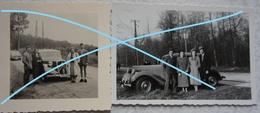Photo X2 CITROEN Traction Circa 40's Voiture Auto Car - Cars