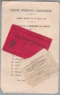 U.S.F.S.A - Union Des Sociétés Françaises De Sports Athlétiques 1896-1904- Carte De Membre Georges Vigneau,coupons... - Athlétisme