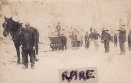 CARTE PHOTO,88,VOSGES,GRANGES SUR VOLOGNE,CARRIERE,OUVRIER,MAIN D'OEUVRE CORSE,RARE - Granges Sur Vologne