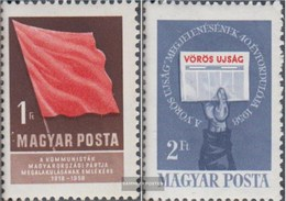 Ungarn 1559A-1560A (completa Edizione) MNH 1958 Comunista Festa - Ungheria