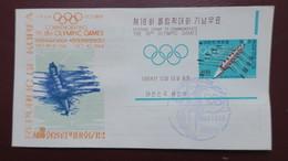 FDC Korea 1964 Souvenir Sheet Olympic Games  , Corée 1er Jour Bloc Jeux Olympiques 1964 - Corea Del Sur