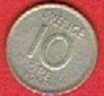 SWEDEN #  10 ØRE  FROM 1959 - Suède