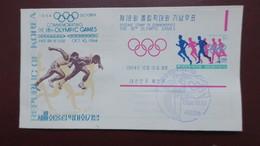 FDC Korea 1964 Souvenir Sheet Olympic Games  , Corée 1er Jour Bloc Jeux Olympiques 1964 - Corea Del Sud