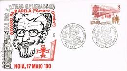 31295. Carta  Exposicion NOYA (Coruña) 1980. Alvaro PARADELA, Dia Letras Galegas - 1931-Hoy: 2ª República - ... Juan Carlos I