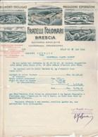 Italie Facture Lettre Illustrée 28/5/1924 Fratelli Folonari Squinzano Barletta Locorotondo Sansevero BRESCIA - Vins - Italie
