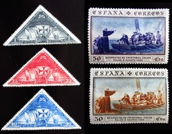 Espagne Cristophe COLOMB 5 Valeurs  Neufs Traces Charnières - 1889-1931 Royaume: Alphonse XIII