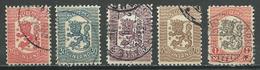 Finlande YT N°84-85-86-88-89 Lion Héraldique Emission De Vaasa Oblitéré ° - Finlande