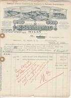 Italie Facture Illustrée 16/9/1922 SUBINAGHI Huiles Essentielles Essences Parfums MILANO - Italie