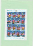 Rep. San Marino 2002 - Minifoglio 16 Val 1851/54** Salt Lake City  2002 Giochi Ol. Invernali Personaggi Fumetti Di Altan - Winter 2002: Salt Lake City