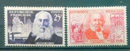 10944 FRANCE N° 1016/7 ** Pierre Martin Et Comte De Chardonnet     1955  TB/TTB - Neufs