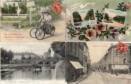 Lunéville X 4, Souvenir La Grande Rue Le Canal - Luneville