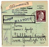 Hitler;  60 Pfg. Als Reine Einzelfrankatur Auf Paketkarte - Allemagne