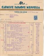 Italie Facture Illustrée 1935 Carmine Faraone Mennella Graines Potagères Fleurs TORRE Del GRECO Naples Timbre Fiscal - Italie
