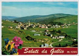 SALUTI  DA  GALLIO  (VI)   PANORAMA  CON VEDUTA  DEL M. SISEMOL                   (VIAGGIATA) - Altre Città