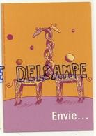 Deux Girafes Enlacées. Envie De Penser... Publicité Pour La Contraception. Carte Boomerang - Girafes