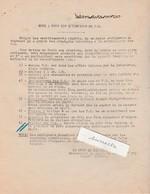 Consignes De Surveillance (évasion) PG Prisonniers De Guerre (cheveux, Habits Marqués, Retrait Chaussures... - 1939-45