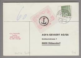 Motiv Fotografie 1976-07-02 Freistempel Auf Kleber #4449 AGFA Für Nachporto - Timbres
