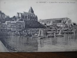 Dpt 76 Le Treport Avant Port Vue Prise Du Pont Tournant, Flottille No76 ND Phot - Le Treport