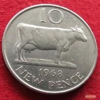 Guernsey 10 Pence 1968 KM# 24 Guernesey - Guernesey