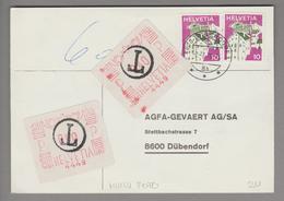 Motiv Fotografie 1976-07-02 Freistempel Auf Kleber #4449 AGFA - Timbres
