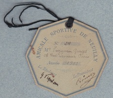 U.S.F.S.A. Athlétisme - Amicale Sportive De Neuilly Macaron Membre Actif 1903 - Athlétisme