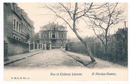 CPA Dos Non Divisé : NAMUR Saint Nicolas - Rue Et Château Léonne - Rue Léanne - Namur