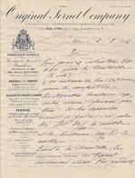 Italie Facture Lettre Illustrée 2/3/1906 Original Fernet Company MILANO - Italie