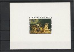 NIGER EPREUVE DE LUXE  PA  216  TIGRE   TABLEAU  DE  DELACROIX - Niger (1960-...)