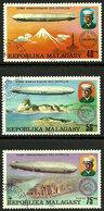 Madagascar - 1976 - Zeppelins - N° 580 à 582 - Oblitéré - Zeppelins