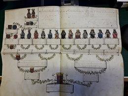 Généalogie Strainchamps Sur Vélin, Verrs 1700 - Manuscripts