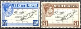 St Christophe - St Kitts - 1948 - Yt 105/106 - Georges VI - Neuf Sans Gomme - St.Christopher-Nevis-Anguilla (...-1980)