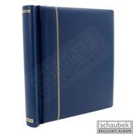 Schaubek DK100/3 Klemmbinder, Blau, Mit 40 Blankoblättern Bb 100 - Groß, Grund Schwarz